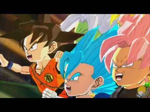 Dragon Ball Fusions (3DS) - SSB Vegito, SSJ Rose Goku Black, Fused Zamasu [DLC]【60FPS 1080P】