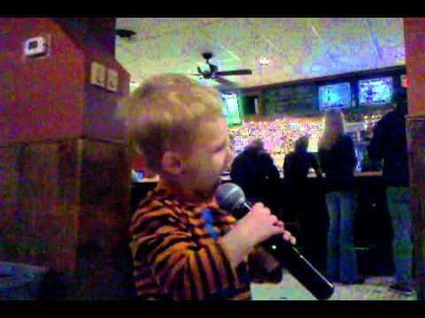 Parker Sings Old McDonald @ Karaoke