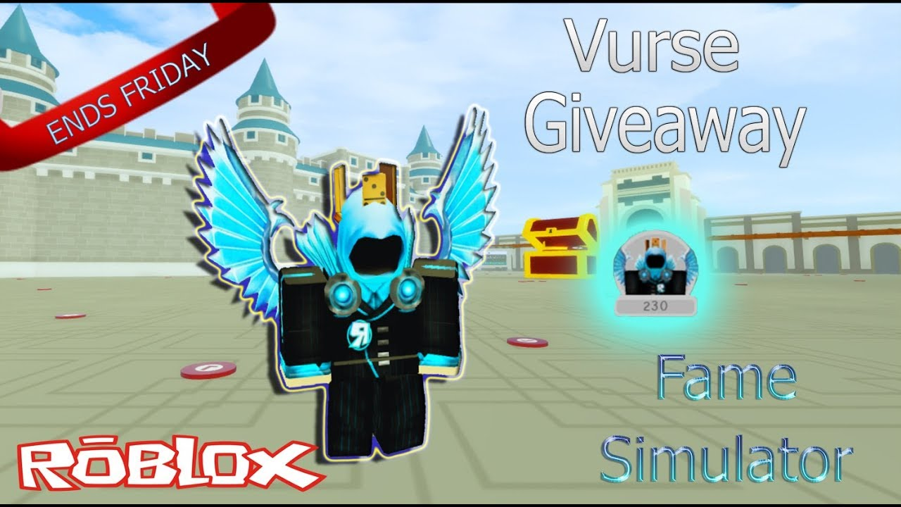 Fame Simulator Vurse Giveaway Roblox Youtube