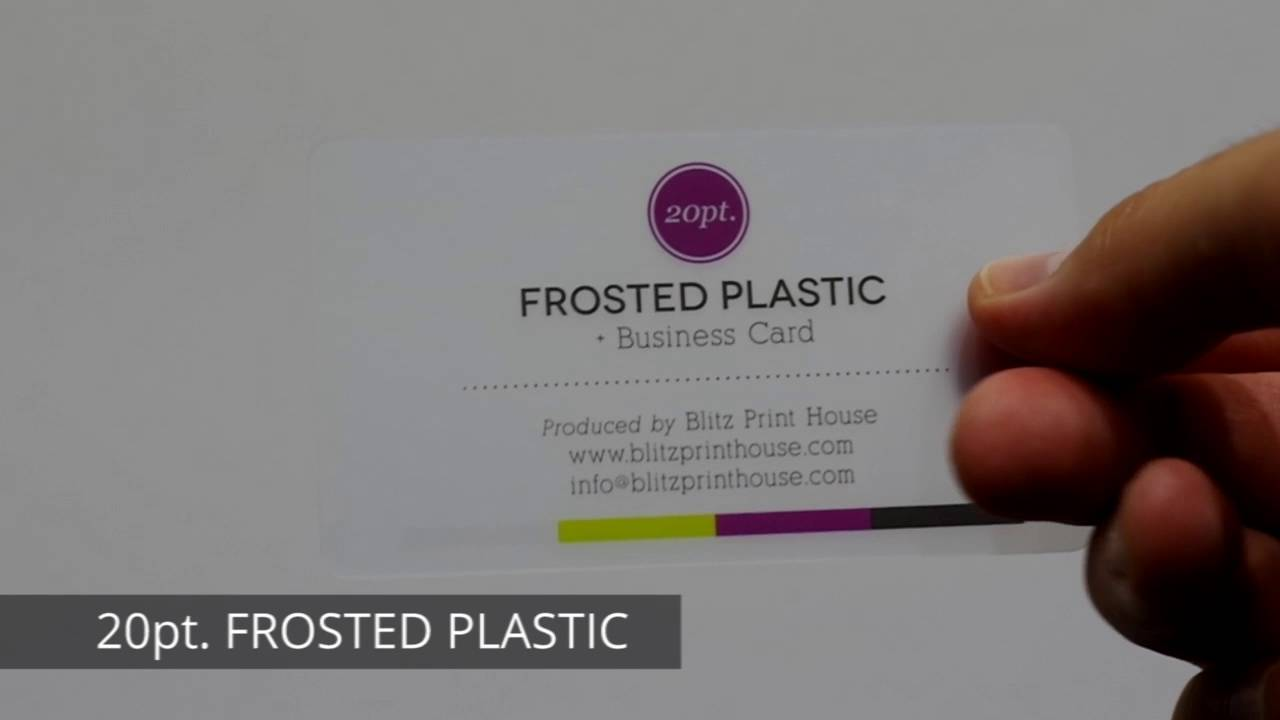 20pt. FROSTED PLASTIC by Blitz Print House - YouTube