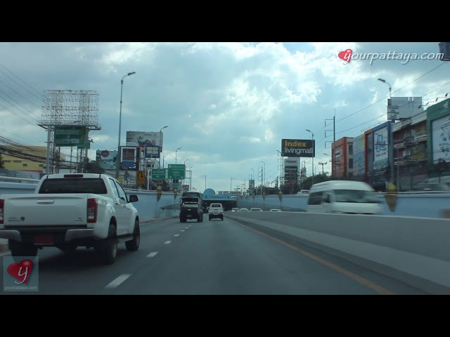 Pattaya Klang Underpass Tunnel drive through (Daytime)