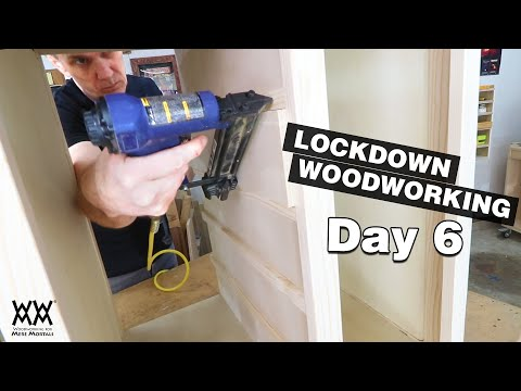 day-6-|-wrapping-up-the-printer-stand-assembly-|-lockdown-woodworking