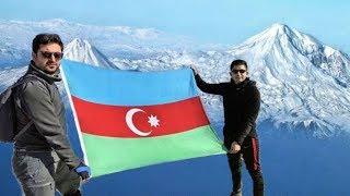 Tурецкие альпинисты воздвигли флаг Азербайджана на горе Агры