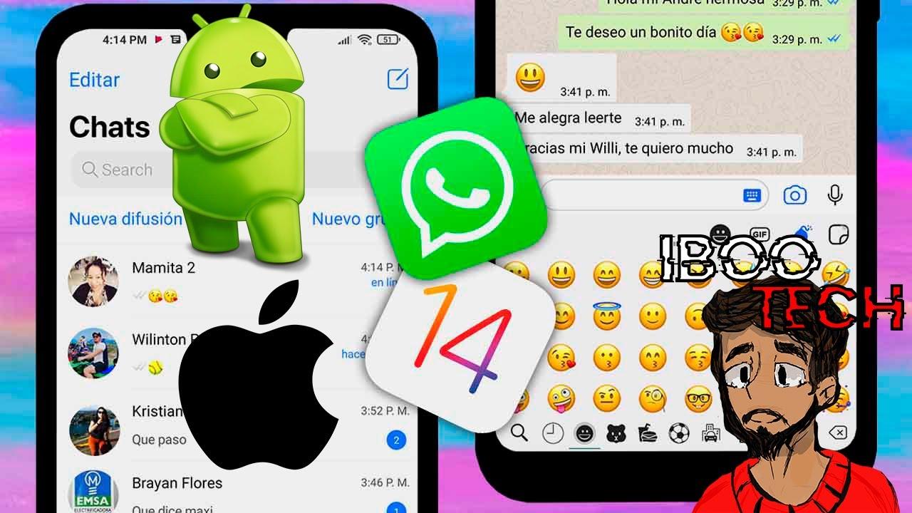 Nuevo WhatsApp Estilo iPhone en Android 2021 FEBRERO - YouTube
