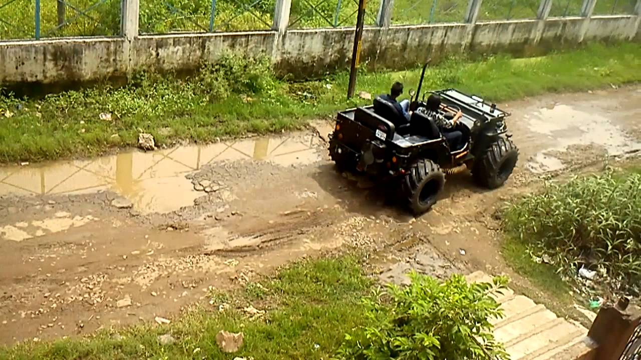 Sexy indian modified jeep with big tires - YouTube