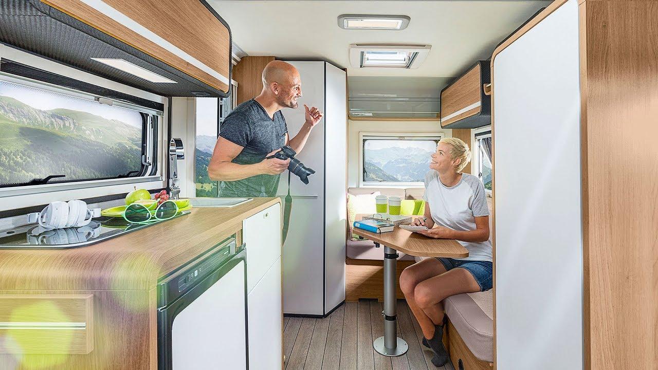 Knaus travelino 2018 ultra lightweight 4 person caravan for Interieur camping car
