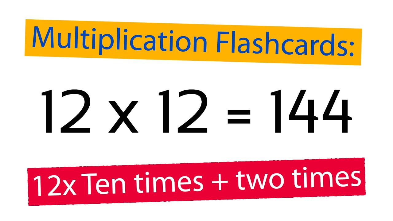 Worksheet Multiplication Flashcards multiplication flashcards 12x ten times plus two youtube times