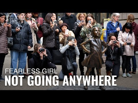 Fearless Girl Moving, But Not Too Far
