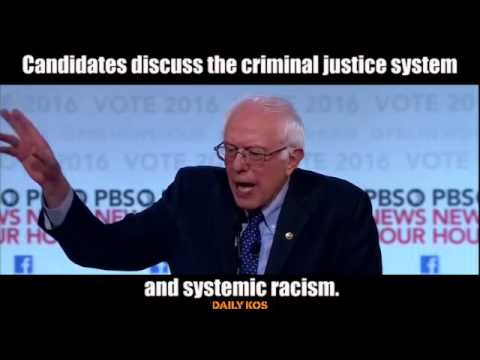 Clinton and Sanders discuss the criminal justice system and systemic racism