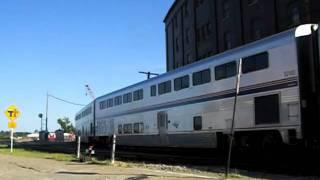 Amtrak P40DC 815  pulling out of Burlington Iowa