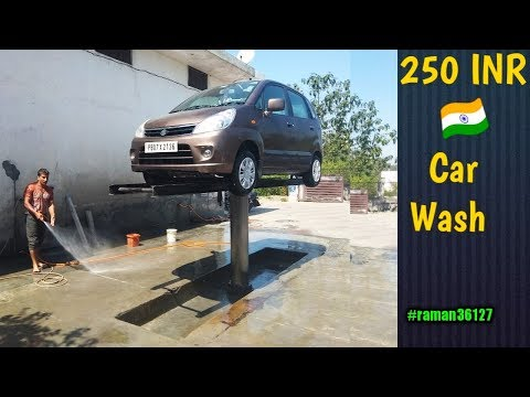 Punjab,India- 250 INR Car Wash-Perfectly Super Clean With Pressure Washer-Dirty Car Wash