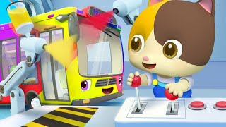 巴士車變顏色 | 2020最新學顏色兒歌童謠 | 卡通 | 動畫 | 寶寶巴士 | BabyBus