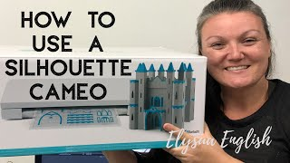 How to use a Silhouette Cameo | Contact Vinyl Stencil Tutorial | Beginner Tips & Tricks