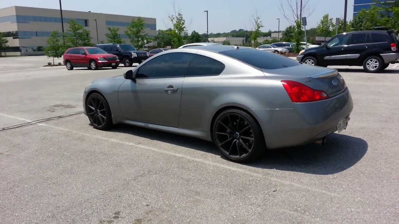 Infiniti g37 catback exhaust black matte rims youtube vanachro Choice Image