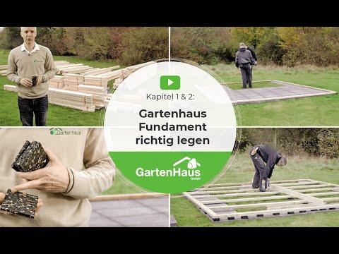 Kapitel 1  2 Gartenhaus Fundament richtig legen  YouTube