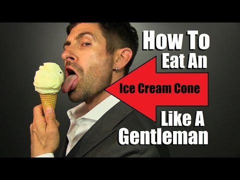 How To Eat An Ice Cream Cone Like A Gentleman! TOP 5 Ice Cream Eating Tips