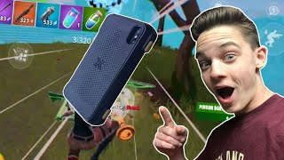 Turning my PHONE into a CONTROLLER to Win a Game of Fortnite Mobile!