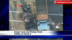 Dump Truck, Pickup Collide On Route 8