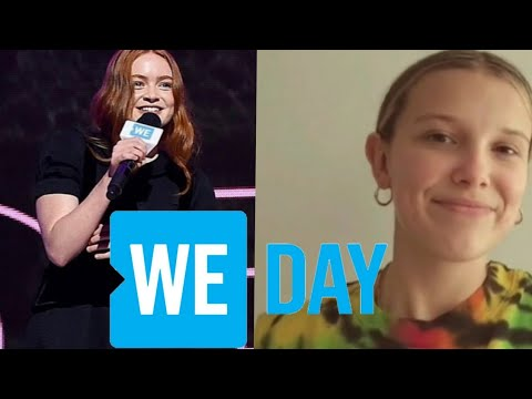 Sadie Sink and Millie Bobby Brown at the We Day event #Wemovement