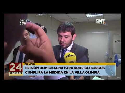 Prisión domiciliaria para Rodrigo Burgos