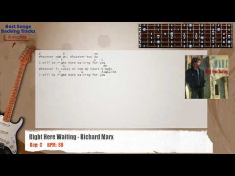 Right Here Waiting - Richard Marx Guitar Backing Track with chords and lyrics