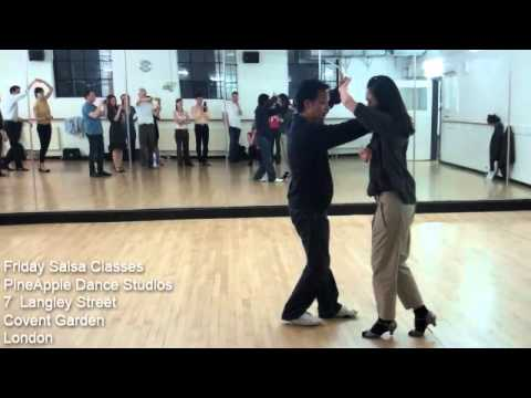 How to do Friday Salsa Adult Dance Class London @ Pineapple Dance Studios Near Convent Gardens