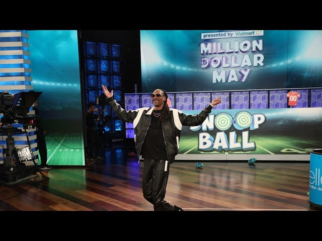 Snoop Dogg Gets a High Score with a Game of Snoop Ball
