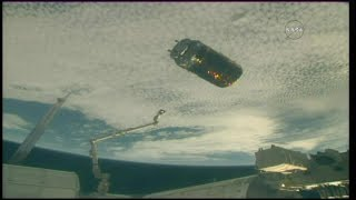 HTV-7 Release and Departure from the International Space Station (time lapse)