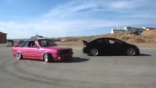 Özgür Cocuk BMW E30 ile HONDANIN etrafında dönme