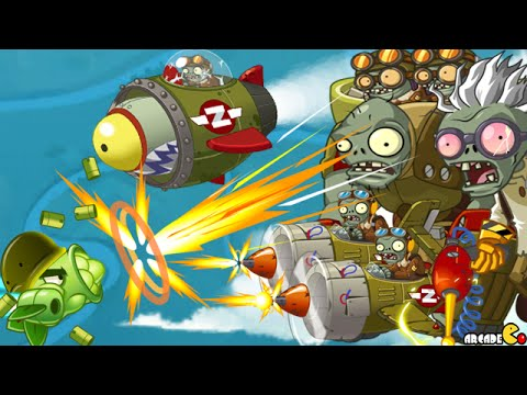 Plants Vs Zombies 2: Sky Castle World Mini Game Air Force Sk