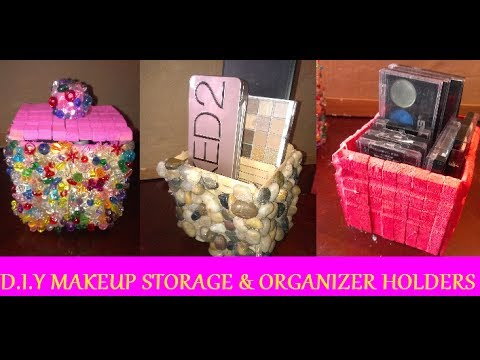 Diy Makeup Storage Amp Organizer Holders Using Clothes