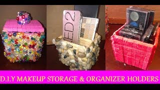 Diy: Makeup Storage & Organizer Holders (using Clothes Pins)