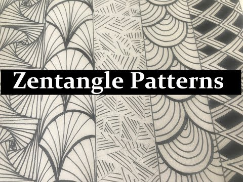 5 Zentangle Patterns For Beginners, How To Draw Easy Doodle