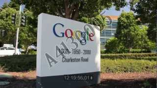Googleplex, Google Mountain View Campus establishing shots, signage, unedited