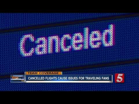 All flights from Nashville to Kansas City canceled due to weather