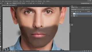 Как добавить щетину на фото Видео урок-25