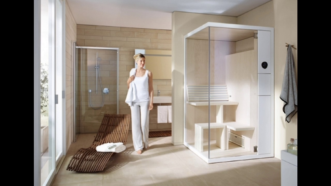 bad mit sauna planen was muss man beachten youtube. Black Bedroom Furniture Sets. Home Design Ideas