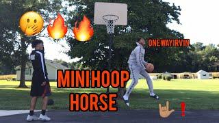 MINI HOOP HORSE!! |outdoor| with ONEWAYIRVIN🖤 #2HYPE #jesser #TRENDING