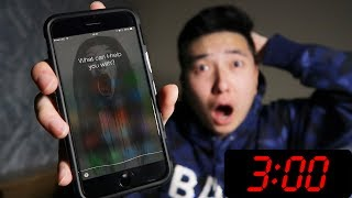 DO NOT TALK TO SIRI AT 3:00 AM! *THIS IS WHY* (SIRI 3 AM CHALLENGE)