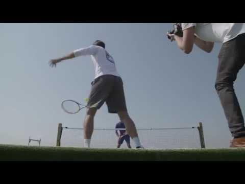 Federer Haas Play Rooftop Tennis In Stuttgart English