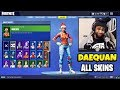 Daequan's SKIN COLLECTION With ALL RARE SKINS Daequan Has | Ghoul Trooper, Christmas Skins & More!