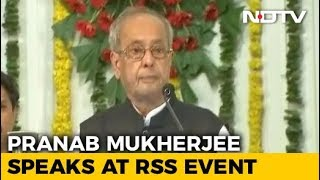 Pranab Mukherjee at RSS event - Full Coverage