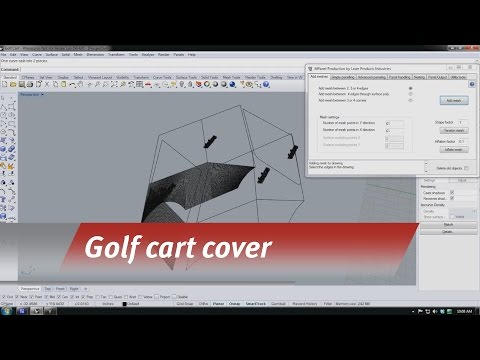 LT-2D3D digitally templating a golf cart