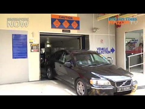 Mechanised Parking In Hdb Estates By End 2012 Youtube