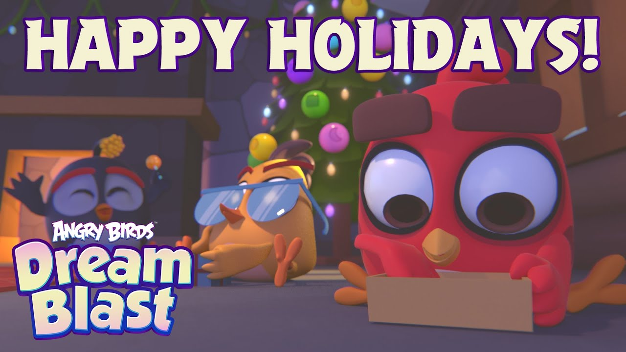 Happy Holidays from the birds of Angry Birds Dream Blast!