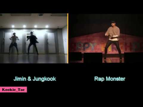 BTS Jungkook+Jimin VS RapMon (Dancing to Own It)