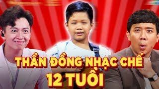 """""""Thánh Nhạc Chế"""" 12 tuổi khiến Trấn Thành, Trường Giang phải liên tục thán phục"""