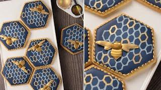 Royal Icing BEE COOKIES  SweetAmbs Cookie Decorating Tutorial