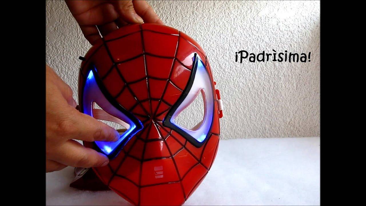 Mscaras con luz de LED de Iron Man y Spiderman en