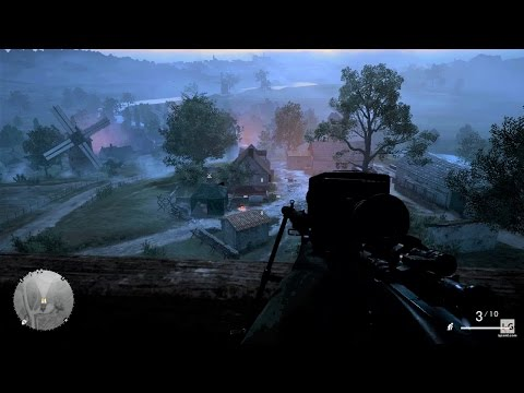 WW1 - British Sniper vs German Army in France - Out of Gas - Battlefield 1